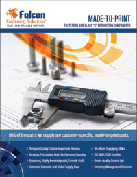Made-to-Print Custom Parts Brochure