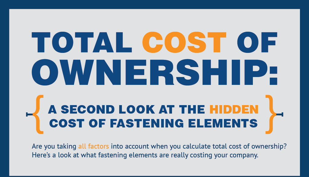 [INFOGRAPHIC] Total Cost of Ownership: A Second Look at the Hidden Costs of Fastening Elements