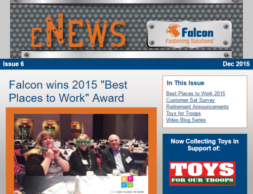 "Issue 6: Falcon Wins 2015 ""Best Places to Work"" Award"